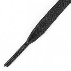 Cordón plano negro encerado 6 mm x 80 cm CC30080P - 2 uds