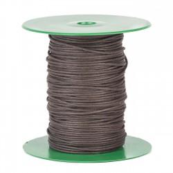 Cordón redondo marrón encerado 1.5 mm x 100 mts - CC98