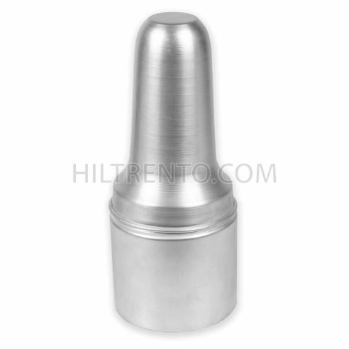 Bote aluminio porta pinceles con tapa