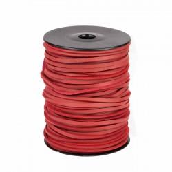 Cordón náutico cuero rojo 3.5 mm - Carrete 50 mts