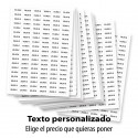 Pack 1140 etiquetas adhesivas precio personalizadas 15x33mm