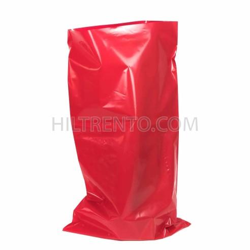 Saco plástico rojo opaco G400 50x90cm - pack 50 uds