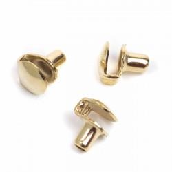 Gancho pasador cordón bota ref. 141 oro fino - Pack 1000 uds