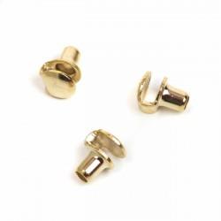 Gancho pasador cordón bota ref. 432 oro fino - Pack 1000 uds