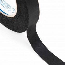 Cinta nylon festón refuerzo costuras negra 15mm x 50m