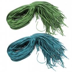 Cordón plano encerado cabeteado algodón 6 mm 50 -180 cm ref .300 - Pack 144 uds