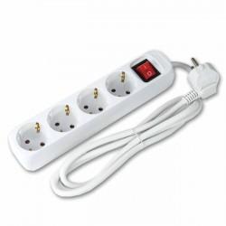 Regleta ladrón múltiple 4 enchufes con interruptor 3680v Cable 1.4 m