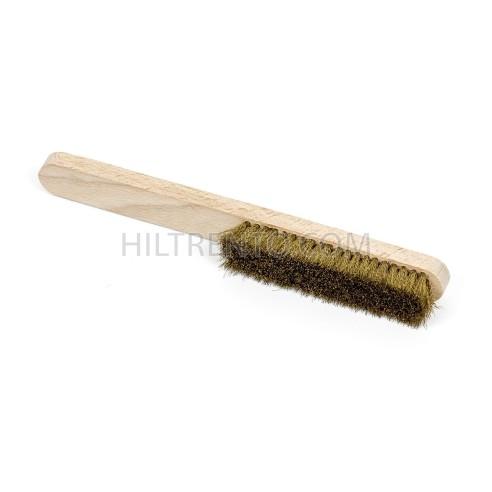 Cepillo para calzado ante laton mango madera