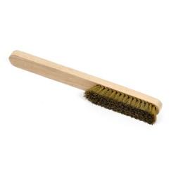 Cepillo manual de latón mango madera 6 hileras
