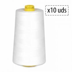 Hilo poliester 100% fibra cortada 80/2 - Caja de 10 conos
