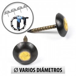 Tachuelas semiplanas 9.5 mm esfumado - Pack 1000 uds