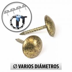 Tachuelas semiplanas 9.5 mm oro viejo para máquina - Pack 1000 uds