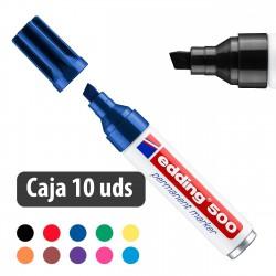 Rotulador marcador permanente Edding 500 - Caja 10 uds