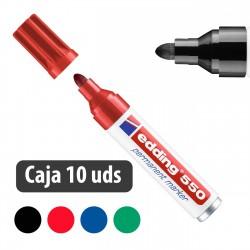 Rotulador marcador permanente Edding 550 - Caja 10 uds