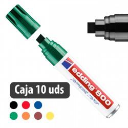 Rotulador marcador permanente Edding 800 - Caja 10 uds