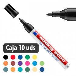 Rotulador marcador permanente Edding 3000 - Caja 10 uds