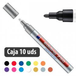 Rotulador tinta opaca brillante Edding 750 - Caja 10 uds