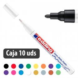 Rotulador tinta opaca brillante Edding 751 - Caja 10 uds