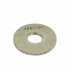 Carda cepillo circular goma con alambre para lijar 120x10 mm F.40