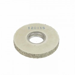 Carda cepillo circular goma con alambre para lijar 120x15 mm F.40