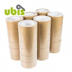 Precinto papel kraft reforzado con hilos 50mm x 25 mts UBIS - Caja 36 uds