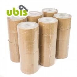 Precinto papel kraft reforzado con hilos 75mm x 25 mts UBIS