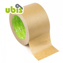Precinto papel kraft eco reciclado 75mm x 50 mts UBIS