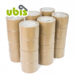 Precinto papel kraft eco reciclado 75mm x 50 mts UBIS - Caja 24 uds