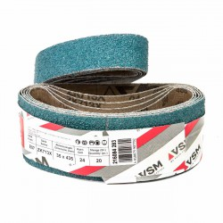 Banda de lija tela azul VITEX 435x35 mm grano 24 - Pack 10 uds