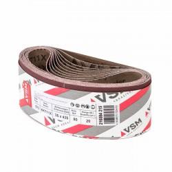 Banda de lija tela roja VITEX 435x35 mm grano 80 - Pack 10 uds
