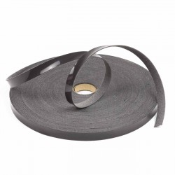 Ribete piel sintética charol gris 14 mm - 10 Metros