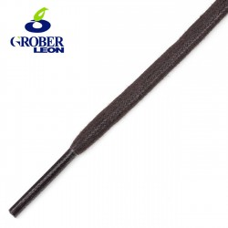 Cordón plano encerado marrón 4 mm GROBER (50-150 cm) - 144 uds