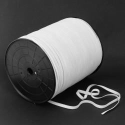 Elástico crochet blando 6 mm blanco para mascarillas - 500 mts