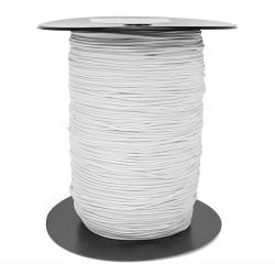 Cordón goma elástica para mascarillas Blanco 1,5 mm Nº 1 - Carrete 300 mts