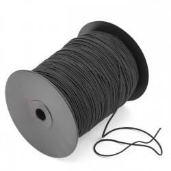 Cordón goma elástica para mascarillas Negro 1.8 mm Ref.800 - Carrete 300 mts