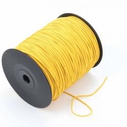 Cordón elástico Amarillo 2 mm - Rollo 300 mteros