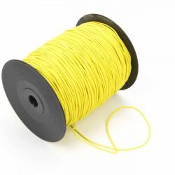 Cordón elástico Verde fluor 2 mm - Rollo 300 mteros