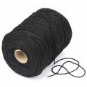 500 mts cordón elástico 2 mm flojo suave col. negroref.3