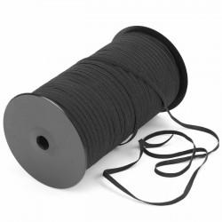 350 mts Elástico crochet blando 6 mm Negro para mascarillas