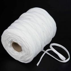 80 mts elástico 8 mm flojo suave col. blanco