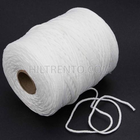 500 mts cordón elástico 2.5 mm flojo suave col. blanco