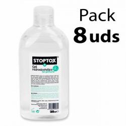 Caja 8 uds Gel hidroalcoholico 500 ml Stoptox
