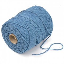 500 mts cordón elástico 3 mm flojo suave col. Azul tifón