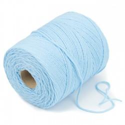 500 mts cordón elástico 3 mm flojo suave col. Azul celeste cielo