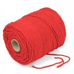 500 mts cordón elástico 3 mm flojo suave col. Rojo