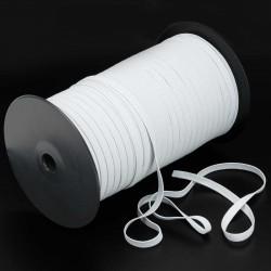 200 mts Elástico telar 6 mm fino blanco
