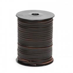 Cordón náutico cuero marrón 025 3.5 mm - Carrete 50 mts