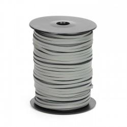 Cordón náutico cuero gris ceniza 3.5 mm - Carrete 50 mts