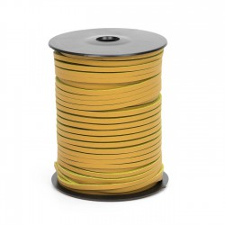 Cordón náutico cuero amarillo limón 3.5 mm - Carrete 50 mts