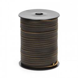 Cordón náutico cuero caoba 3.5 mm - Carrete 50 mts